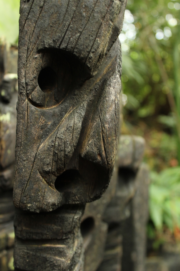 Totem Face, Eden Project, Cornwall