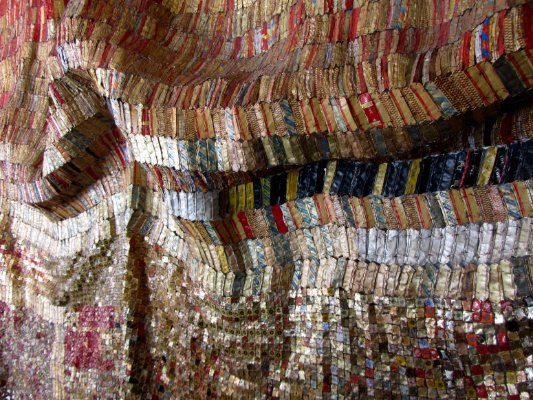 El Anatsui Sculpture at Shoe Museum, Somerset