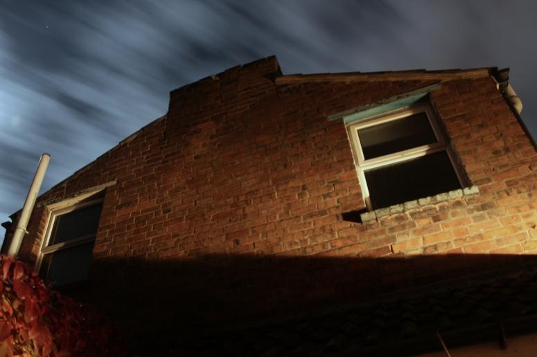 Clouds racing through the night sky, Somerset