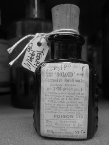 Poison bottle, CHAC, Yeovil