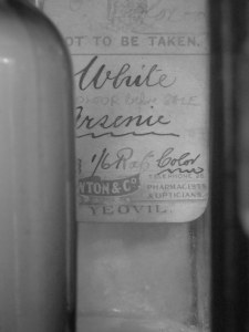 Arsenic bottle, CHAC, Yeovil