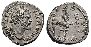 A example of a denarius of Septimius Severus
