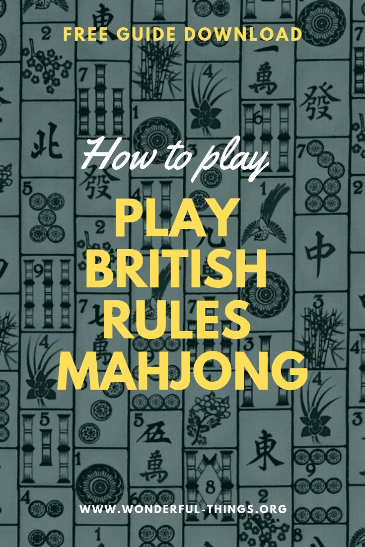 image regarding Mahjong Rules Printable called How Toward Perform British Suggestions Mahjong Excellent Elements