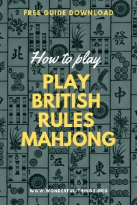 British Rules Mahjong Guide