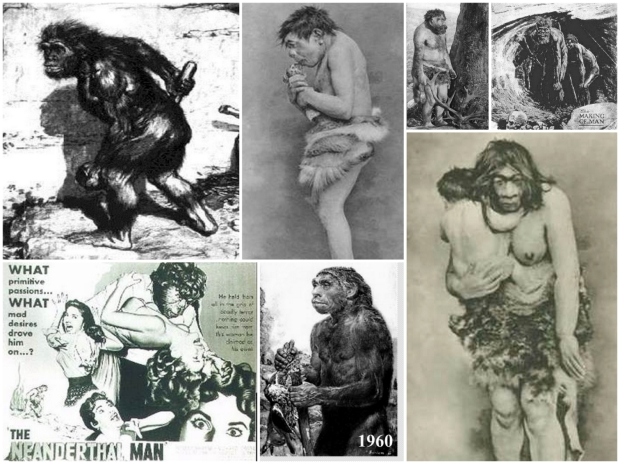 The perception of Neandethals as brutish monkey-men