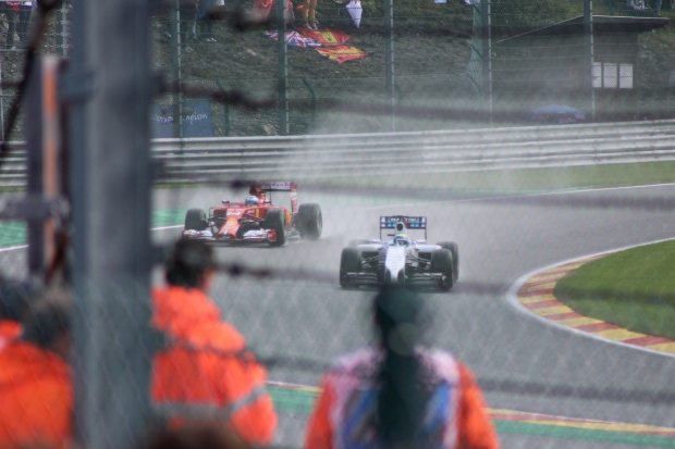 Fernando Alonso, Ferrari against former teammate Felipe Massa, Williams