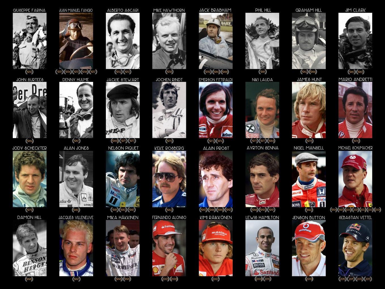 Formula One World Champions since 1950